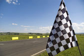 Checkered flag. — Stock Photo