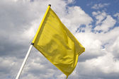 Yellow flag. — Stock Photo