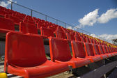 Lines of color seats. — Stock Photo