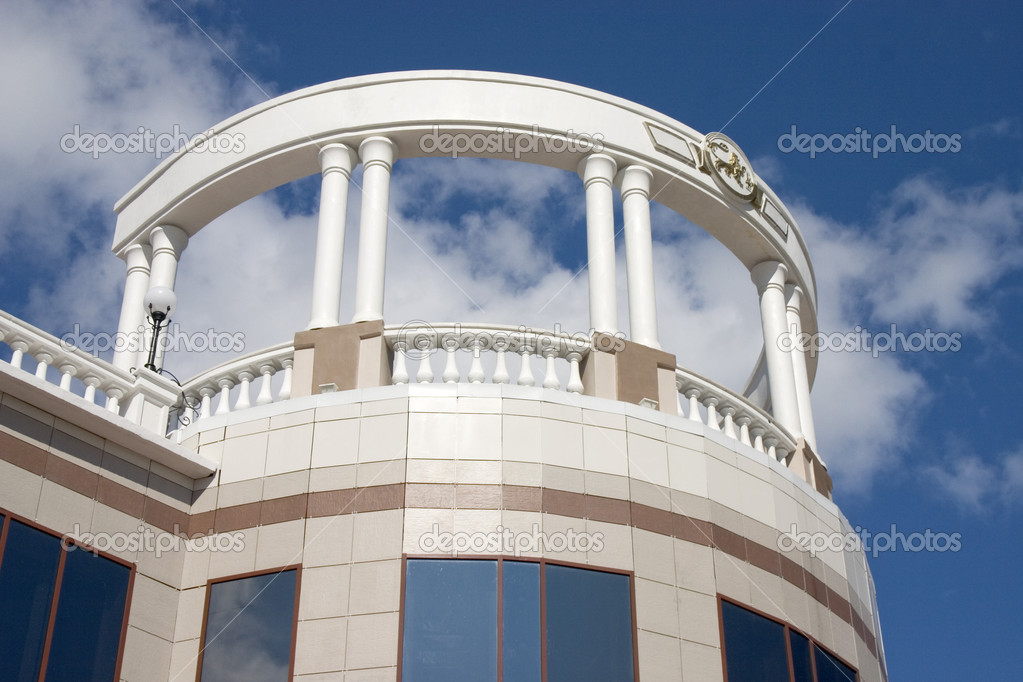 Balcony with white columns stock photo botsman141 #1415351 c.