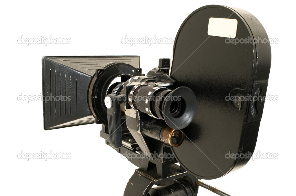 professional 35 mm the movie camera � stock photo