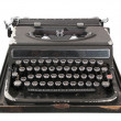 Antique typewriter front view — Stock Photo