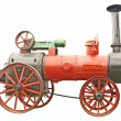 Antique steam tractor — Stock Photo