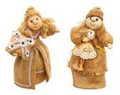 2 つの布人形 — ストック写真