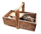 Grungy aged tool box — Stock Photo