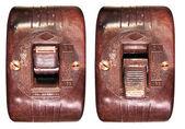 Old bakelite switch — Stock Photo
