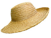 Handmade straw hat — Stock Photo