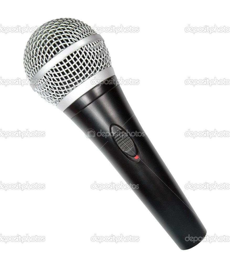 Microphone isolated on white background — Stock Photo #1272238