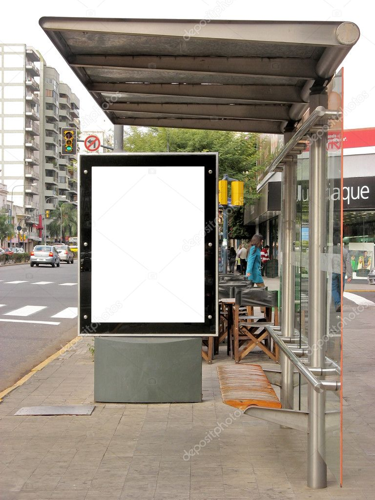 Bus Stop Board Publicity Board on a Bus Stop