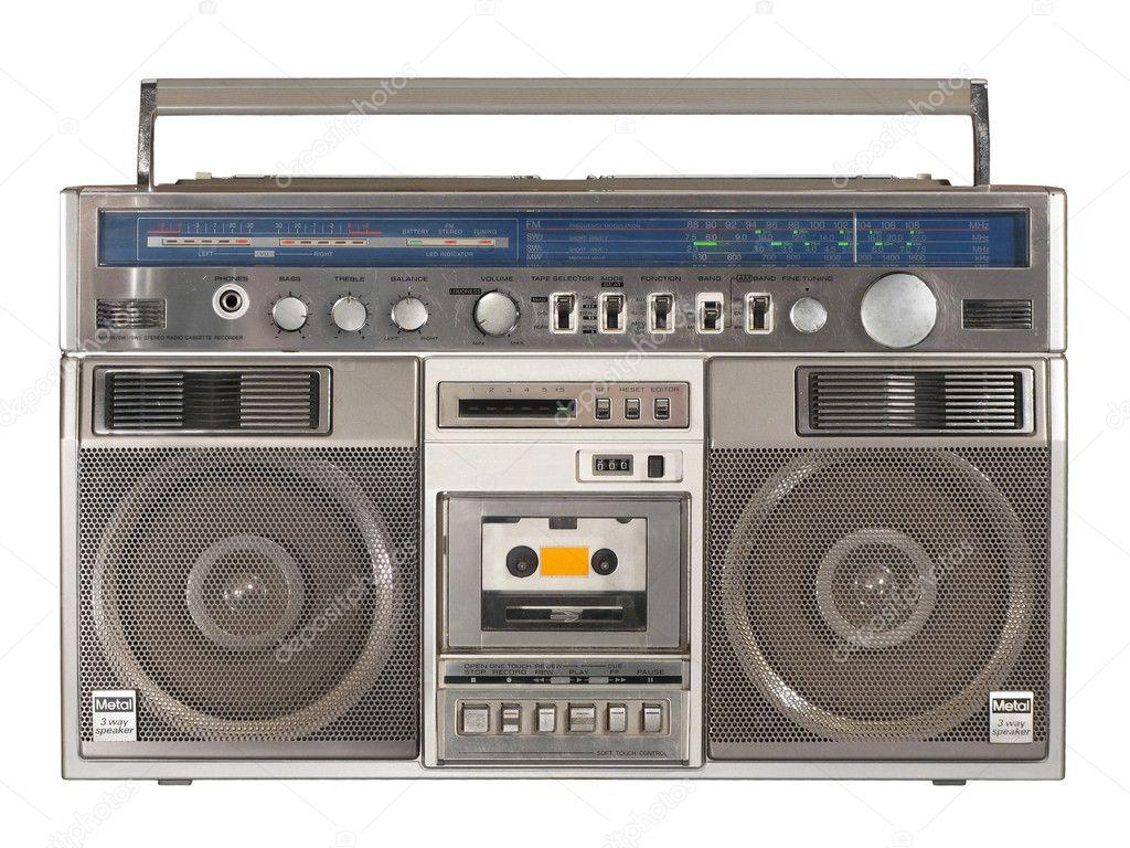 radio cassette recorder 2 stock photo sergioyio 1272996. Black Bedroom Furniture Sets. Home Design Ideas