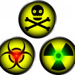 Warning icons — Stock Vector