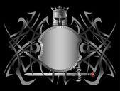 Hellenic fantasy shield — Stock Vector