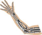 Cybernetic hand — Stock Vector