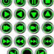 Stock Vector: Buttons for web player