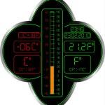 thermomètre Celsius et fahrenheit — Vecteur