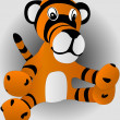 Royalty-Free Stock Vector Image: Toy tiger cub