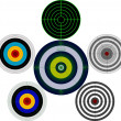 Set of targets - Stock Vector