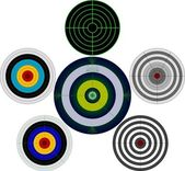 Set of targets — Stock Vector