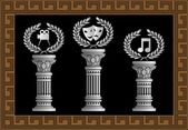 Pedestal of arts — Stock Vector