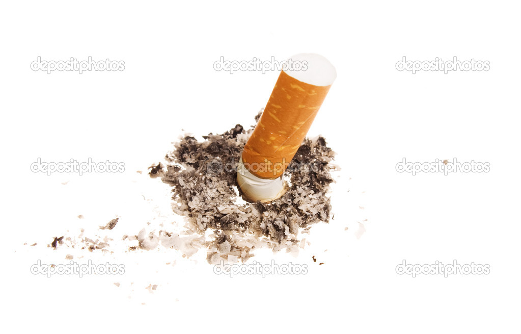 Cigarette butt isolated on white background — Stock Photo #1278849