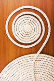 White coiled rope — Stock Photo