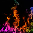 Multi-coloured Fire — Stock Photo