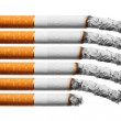 Burn cigarettes set — Stock Photo