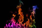 Multi-coloured Fire — Stock Photo