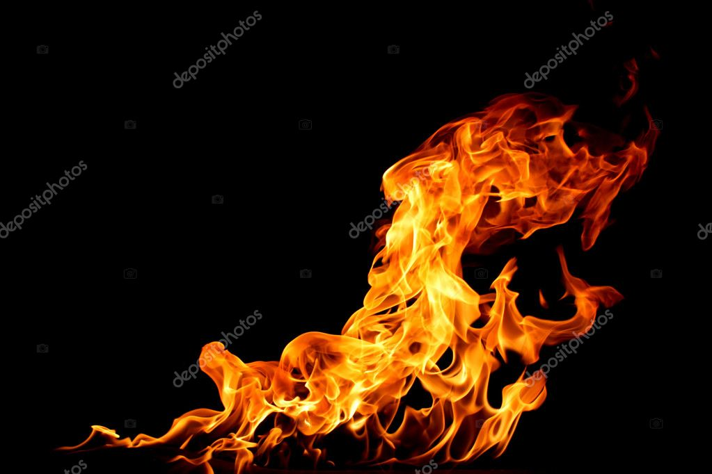Fire on a black background — Stock Photo #1380721