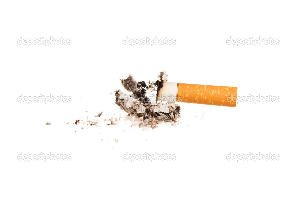 Cigarette butt isolated on white background — Stock Photo #1383024