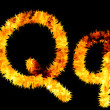 Flame symbol q — Stock Photo