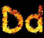Flame symbol d — Stock Photo