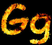 Flame symbol g — Stock Photo