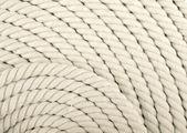 Corda bianca arrotolato. — Foto Stock