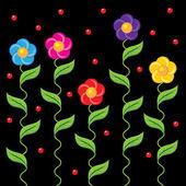 Blommig fringe — Stockvektor