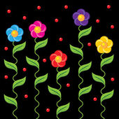 çiçekli bordür — Stok Vektör