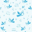 Royalty-Free Stock Vector Image: Birds and music