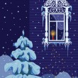 Vector de stock : Christmas candle