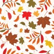 Royalty-Free Stock Vektorgrafik: Seamless autumnal background