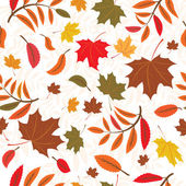Seamless autumnal background — Stock Vector