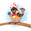 Royalty-Free Stock Vector Image: Sparrow in love