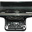 Old black typewriter - Stock Photo