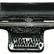 Stock Photo: Old black typewriter
