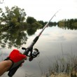 Fishing on a spinning — Stock Photo #1302450