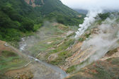 Valley of geysers on Kamchatka — Stock Photo