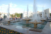 Fountains on the main square — Stock Photo