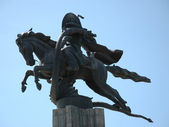 Monument to the horseman — Stock Photo