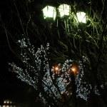 Three night lanterns — Stock Photo