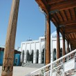 Internal court yard of the Tadjik mosque — Stock Photo