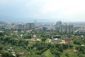 Panorama of the city of Almaty — Stock Photo
